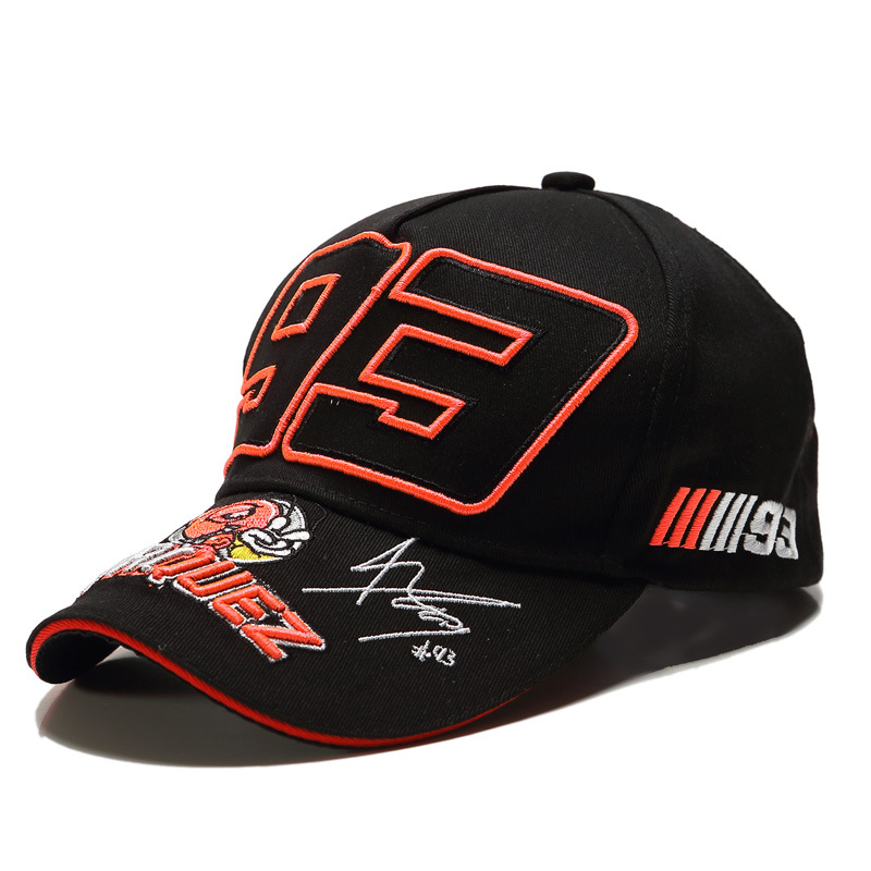 LA 2019 Foreign Trade Ants Embroidered 93 Hat F1 Racing Cap Baseball Cap Duckbill Hat Moto. Gp Outdoor Sports mo tuo mao