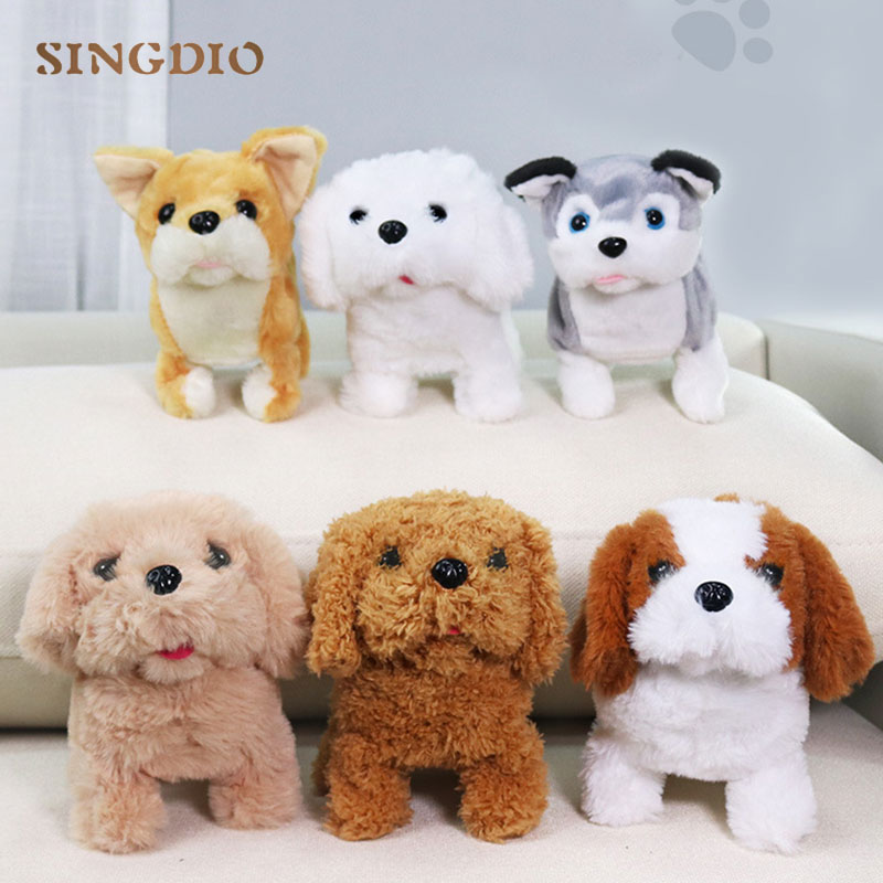 Cute Electronic Stuffed Animals Soft Baby Toys Pet Battery Operated Dog Plush Walking Puppy Christmas Birthday Gifts Toy