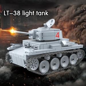 Image 5 - 535 個 technik LT 38 ライト戦車ビルディングブロック軍事陸軍市兵士フィギュア武器レンガ男の子のおもちゃ子供
