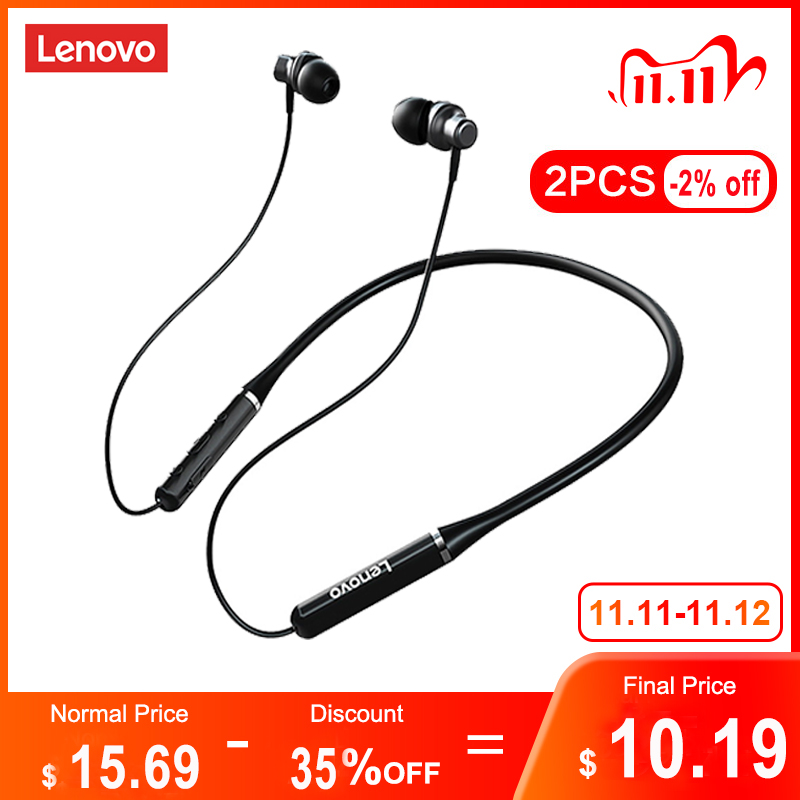 Lenovo Wireless Bluetooth Earphones Headphones Magnetic Sports Running Headset IPX5 Waterproof Sport Earphone Noise Canceling