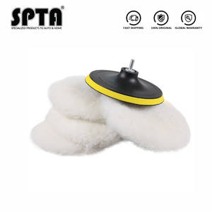 SPTA Bonnet--Pad Drill-Adapter Car-Polisher Soft-Wool-Polisher/buffer M14 with Hook Loop