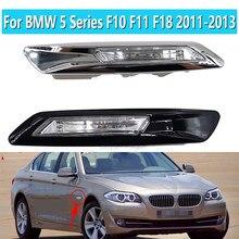 1 par esquerda direita fender montado marcador lateral canto folha placa luz para bmw série 5 f10 f11 f18 2011 2012 2013 63137154167