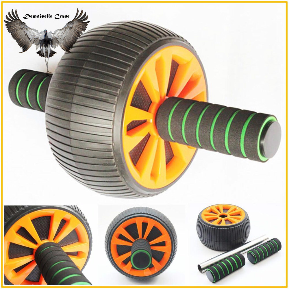 FX High Quality Keep Fit Wheels Large Size No Noise Abdominal Wheel Ab Roller Exercise Fitness Equipment Hand Abdominal Muscle image