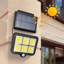Lamp on Solar Light Street Lamp Split Type Remote Control Sensor 160COB Courtyard Wireless Spotlight