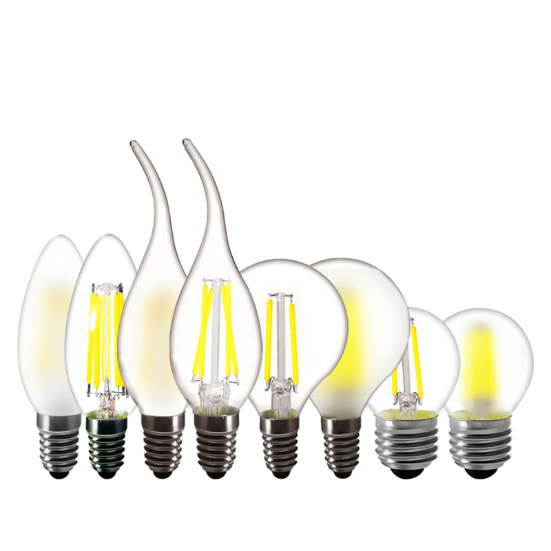 E12/E26/E14/E27 LED Light Bulb 4W 6W C35 Candle Flame Bulb 110V 220V Lamp Warm White G45 Vintage Chandelier Bulb