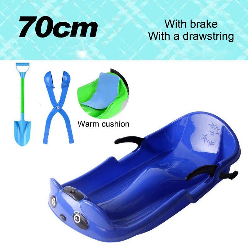 Snowboards d'hiver 2019 neige traîneau avec frein épais Portable sable herbe curseur planche jouet avec poignées pour enfants *