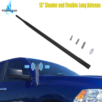 13 Metal Car Antenna Aerial Mast For Dodge Ram 1500 2500 3500 Truck 2009-2017 Black Auto AM FM Radio Signal Amplifier Antenna image