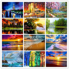 5D diamond painting landscape DIY full diamond embroidery seaside landscape needlework mosaic cross stitch home decoration diy diamond embroidery dusk natural landscape painting cross stitch 5d full rhinestone mosaic home decoration