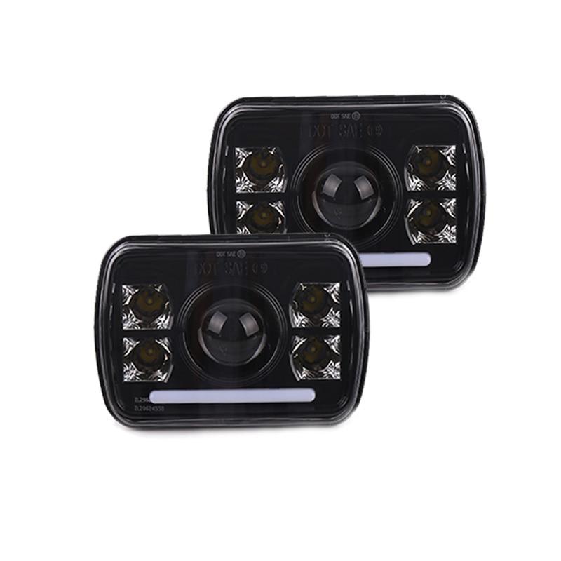 "2Pcs 7x6/"" 5X7/"" 6000K LED Headlight Assembly Hi Lo Sealed Beam DRL  Pickup 7US"