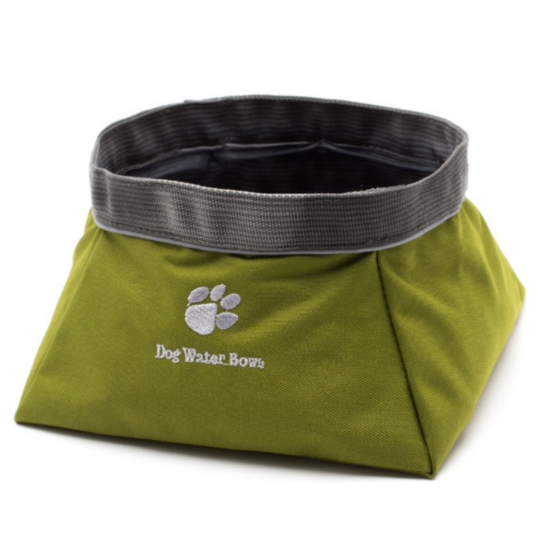 Collapsible Pet Dog Cat Feeder Puppy Food Water Bowl Dish Oxford Fabric Outdoor Travel Dog Feeder