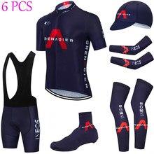 INEOS-conjunto completo de Ropa de Ciclismo 20D para hombre, camiseta transpirable, calentadores de manga, Jersey y pantalones