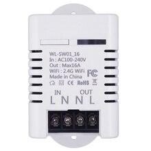 2.4G Wifi Smart Switch Relay 16A Tuya Life App Wireless Remote Control Works with Alexa Ifttt Google Home Mini