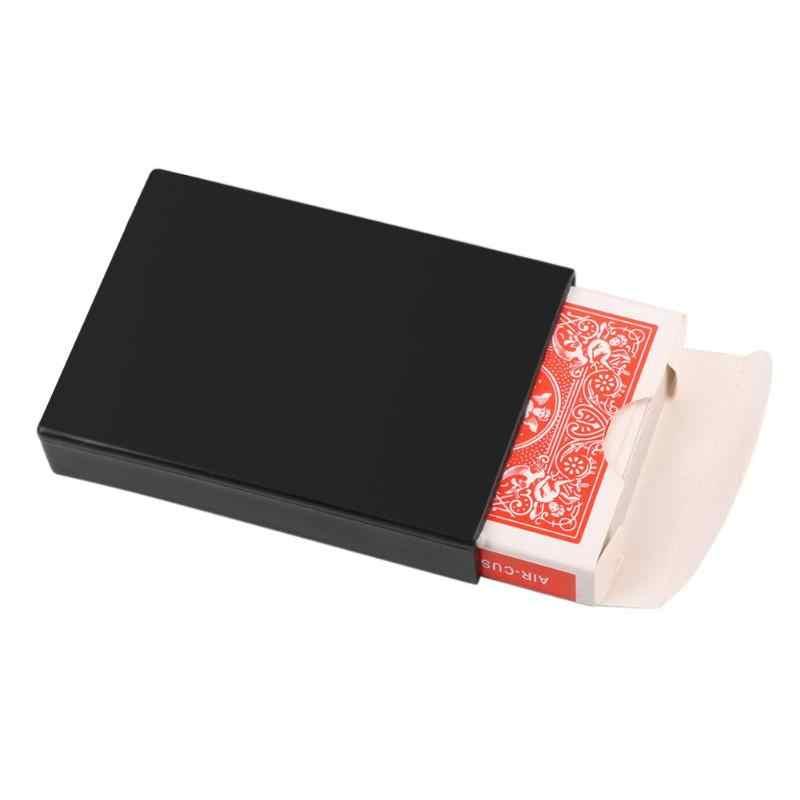 97*70*17 Mm Magic Poker Verdwijnen Box Close Up Magic Trick Fun Poker Vanishing Case Verbazingwekkende Spelen card Kids Nieuwigheid Speelgoed Gift