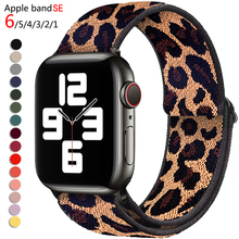 Nylon Loop Strap for Apple Watch Band 6 38mm 40mm 42mm 44mm Iwatch Series 6 5 4 3 2 Bohemia Elastic Watch Replacement Strap cheap SAMCO CN(Origin) 17cm Watchbands New without tags iwatch 6 SE 5 4 3 2 1 Leopard color ethnic style black rainbow Nylon elastic band