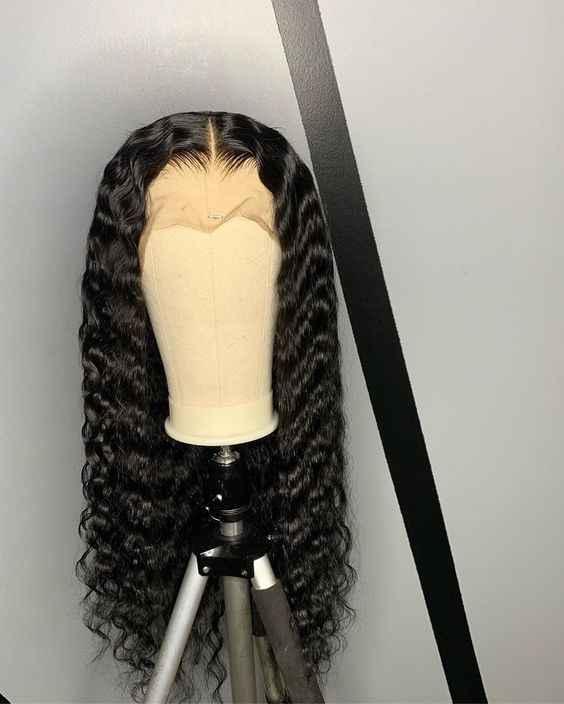 Sophies derin dalga 4*4 dantel kapatma siyah kadınlar için insan saçı peruk ön koparıp Hairline ile bebek saç brezilyalı olmayan Remy saç