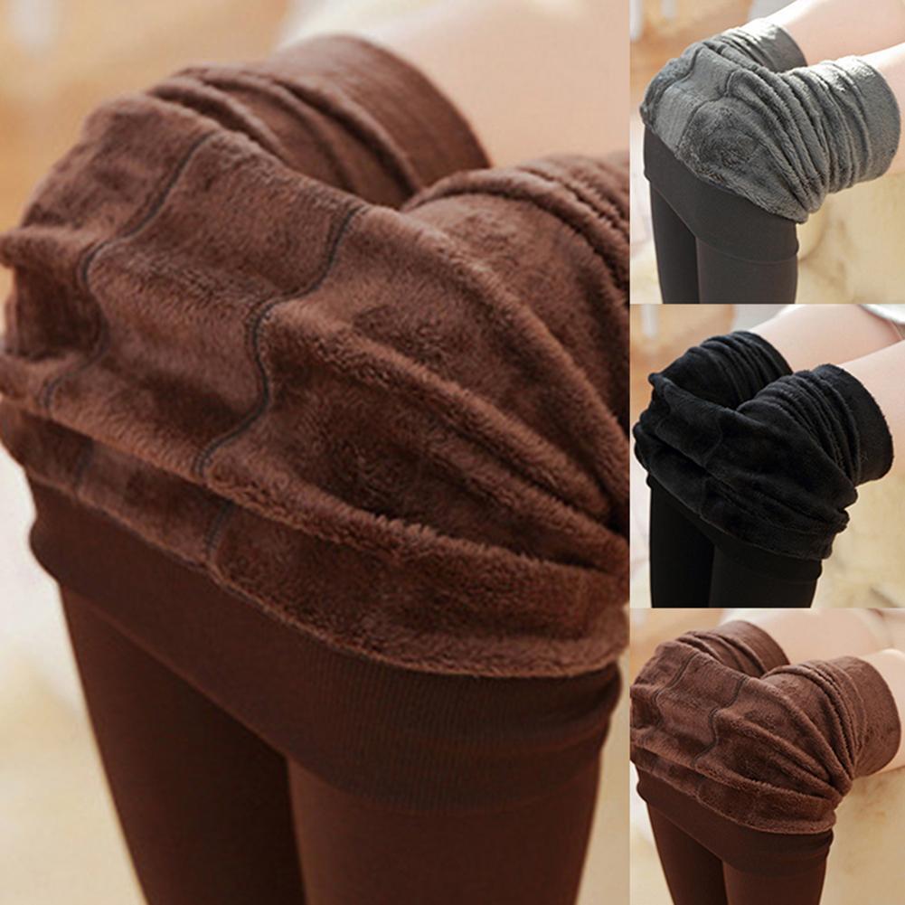 Winter Ladies Plus Velvet Warm Leggings Casual Stretch Tight Trousers джинсы женские High Waist Jeans джинсы с высокой талией