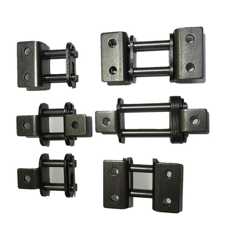 06B, 08B, 10A, 12A Standard Doppel Beitreten Kette Stahl Förder Übertragung Single Link Kette Beitreten Roller Kette Anschluss