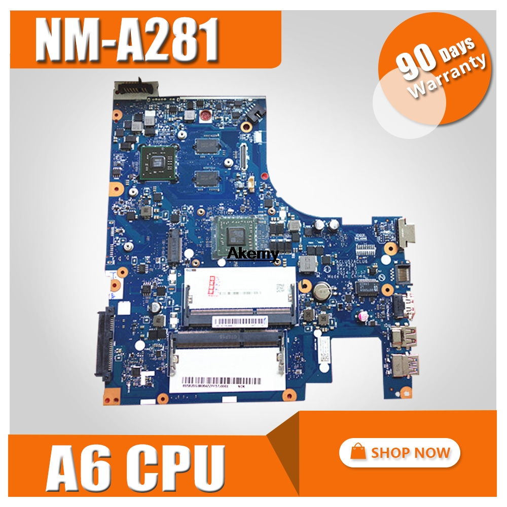 NM-A281 Mainboard For Lenovo G50-45 ACLU5/ACLU6 Laptop PC Motherboard For Amd A6 CPU + R5 GPU Video Card 100% Test OK