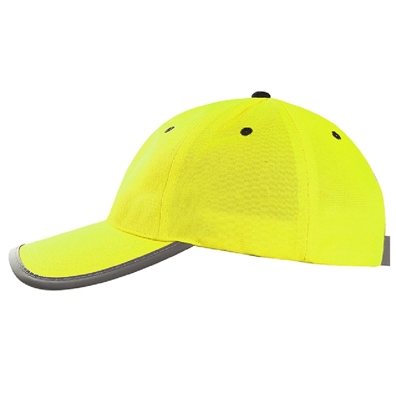 Men Women Protective Bump Cap Baseball Style Hard Hat Safety Workwear Yellow Orange Brightful Cap High Visibility Baseball Cap
