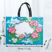 Non-woven Bird Waterproof Shopping Bag Reusable Pouch Travel Storage Handbag Floral Printed Eco Bag Women Folding Grocery Bag(China)