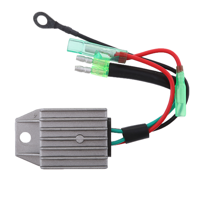Boat Voltage Rectifier Regulator Fits for Yamaha 15HP 2-Stroke Motor Outboard Engines, Gray 4