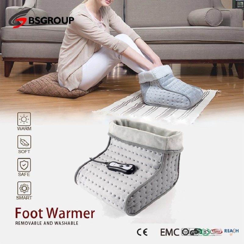 220-240V EU Plug Microwave Portable Vibration Electric Heated Massager Foot Warmer Spa Booties High/Low Vibrating Heating Shoes
