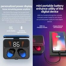 ES01 TWS Bluetooth Head set V5.0 Wireless earphone Touch Screen 9D Stereo Sports Waterproof earpiece