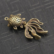 Brass Goldfish Pendant Lovely Collection Keychain Car Ornaments Craft Polished(China)