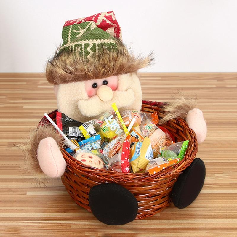 Christmas Candy Storage Basket Decoration