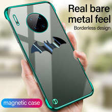 Ultra-thin Magnetic Metal Batman Plating PC Phone Case For