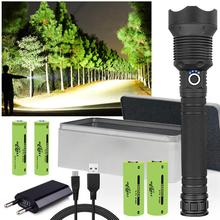 XLamp xhp70.2 most powerful led flashlight usb zoom led torch xhp70 xhp50 18650/26650 Rechargeable hunting Tactical flash light