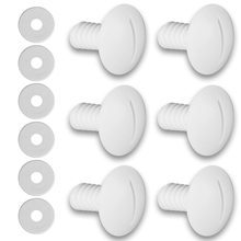 Pool-Cleaner Washers Plastic White Fit-For Replacement-Parts Wheel-Screws Durable 6pcs