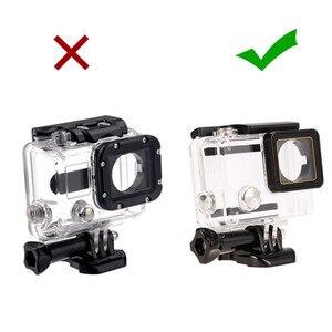 Image 5 - USB 20 LED ملء عدسة حلقة ضوء فلاش الإسكان مصباح ل GoPro بطل 4/3 +