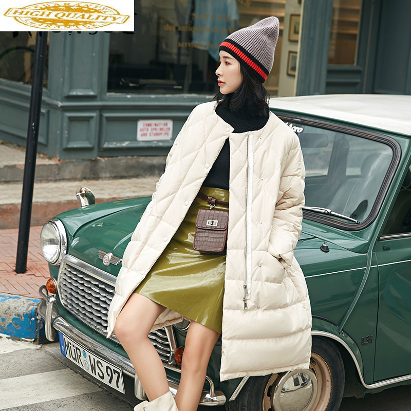 90% White Duck Down Jacket Women Parka Oversized Winter Coat Women Down Coat Puffer Jacket Chaqueta Mujer 1803-1 YY1412
