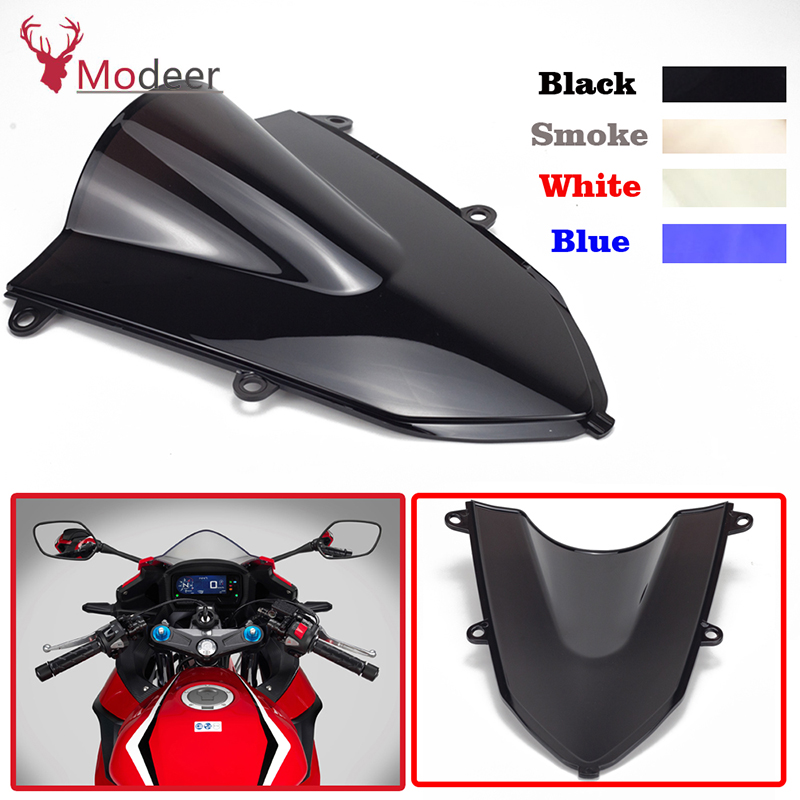 Motorcycle Accessories Transparent Deflector Windscreen Windshield For Honda CBR500R <font><b>CBR</b></font> 500 R <font><b>CBR</b></font> <font><b>500R</b></font> CBR500 R <font><b>2019</b></font> 2020 image
