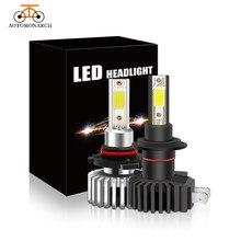 цена на 2PCS  LED H7  Car Headlight Bulb LED H7 H1 H3 H4 H11 H8 H9 H27 880 881 Fog light 12V  60W  Lamp  6000K  9005 9006     CE