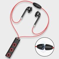 BT313-auriculares magnéticos Bluetooth, cascos deportivos inalámbricos con cuello colgante con micrófono para Xiaomi Red Mi Huawei P30