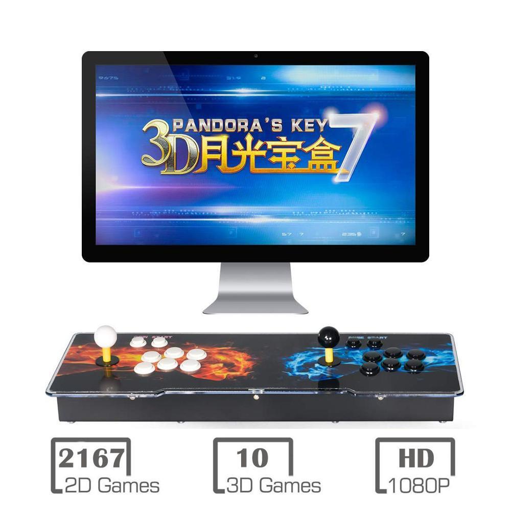 3D Pandora jeux rétro Arcade Console 2200 en 1 boîte 1280x720 Full HD 2 joueurs Arcade Machine ajouter plus de jeux Support 4 joueurs