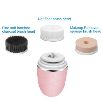 Face Brush Cleansing Device Charcoal Brush Exfoliating Rotating Makeup Remover Deep Pore Cleansing Acne Skin Beauty Massager 4