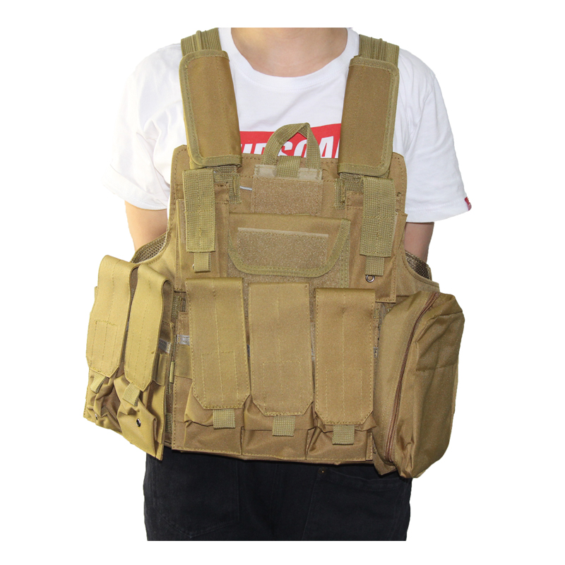 Image 3 - Tactical Vest Molle CIRAS Airsoft Combat Vest W/Magazine Pouch Releasable Armor Plate Carrier Strike Vests Hunting Clothes Gear-in Hunting Vests from Sports & Entertainment