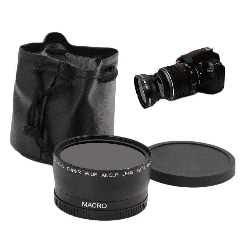58 мм 0.45x широкоугольный и макрообъектив для Canon EOS 350D/400D/450D/500D/600D Новый
