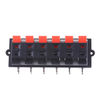 New New AC 50V 3A 12 Way 2 Row Push Release Connector Plate Stereo Speaker Terminal Strip Block|Terminals| |  -