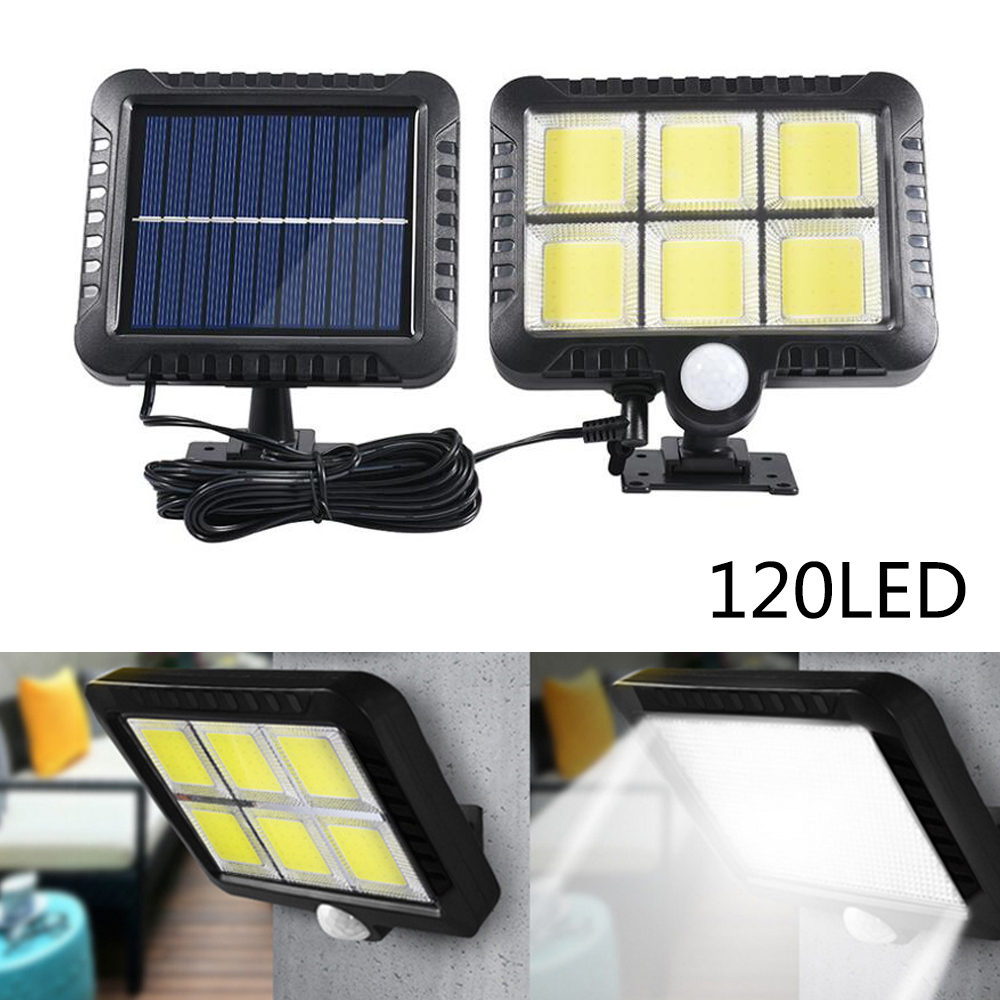 120 COB Solar Light Recharged Leds Outdoor Waterproof Motion Sensor Garden Solar Lamp For Path Street Split IP65 Solar Wall Lamp