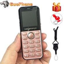 """Newmind k2 mini botão de pressão do telefone móvel duplo sim câmera lanterna 1.44 """"mãos telefone mp3 menor china barato celular"""