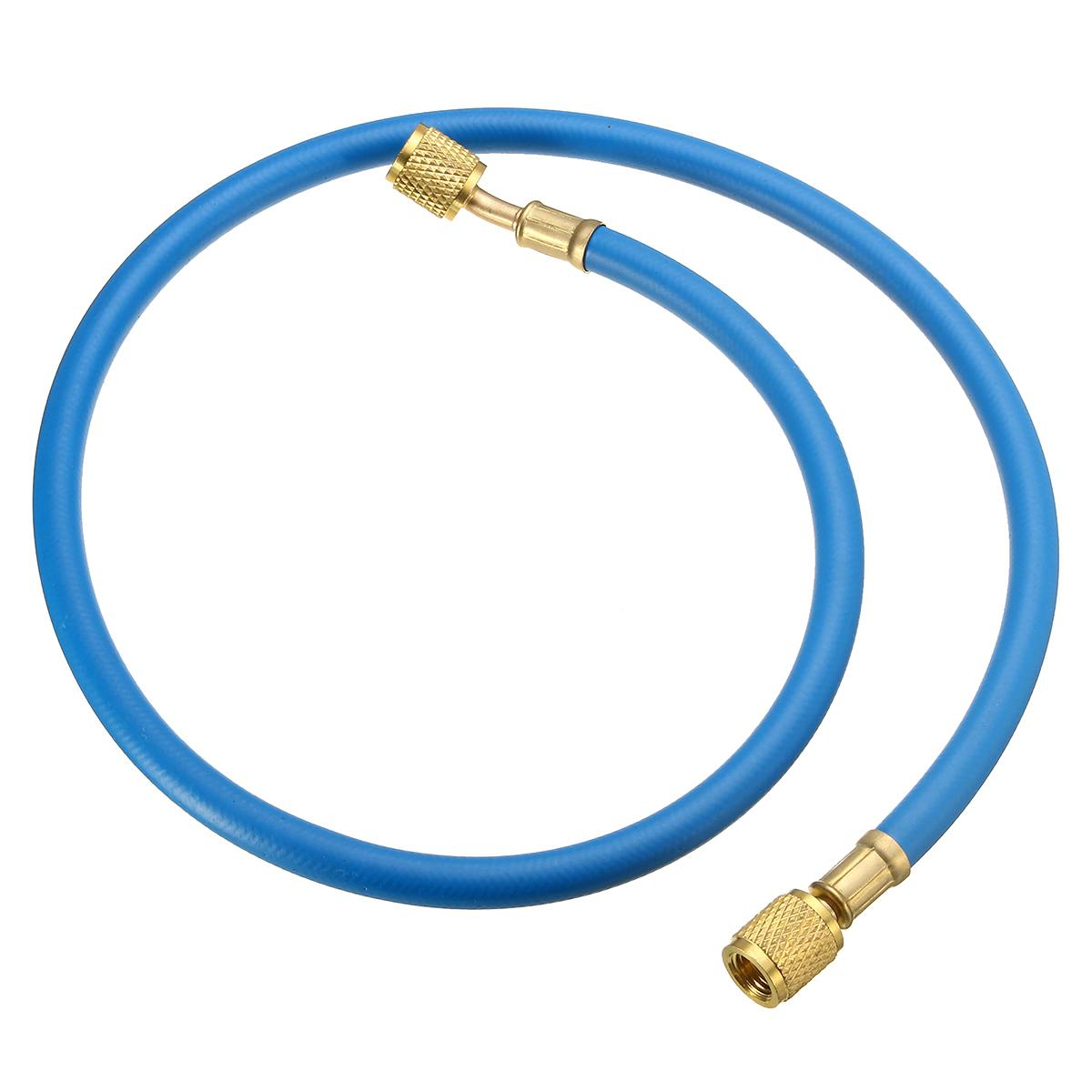 Car Charging Hose 90CM R134A Refrigerant Measuring Recharge Adapter Coolant Pipe 15MM for R410a <font><b>R22</b></font> R12 <font><b>Air</b></font> <font><b>Conditioner</b></font> 1/4