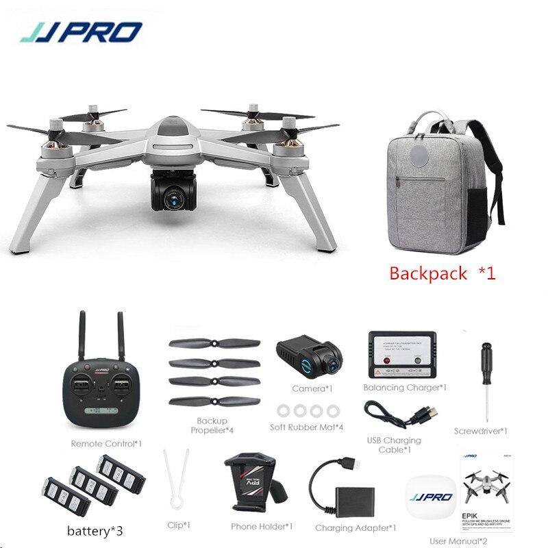 JJRC JJPRO X5 5G GPS WIFI RC Drone FPV con 1080P HD Cámara punto de interés 18 minutos tiempo de vuelo Modo de Altitud RC Quadcopter RTF