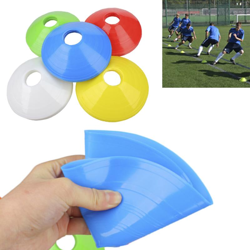 1pc High Quality Soccer Training Sign Dish Pressure  Resistant Cones Marker Discs Marker Bucket PVC Sports Accessories Soccer