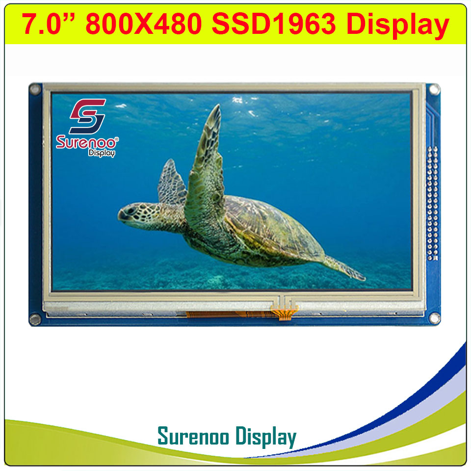"""7.0"""" 7"""" Inch 800*480 SSD1963 TFT Resistive Touch LCD Module Display Screen Panel With PCB Adapter For STM32/51/AVR"""