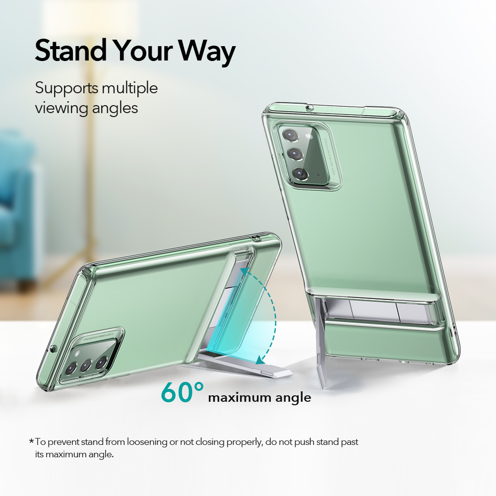 Transparent Shockproof Ultra thin Case with Metal Kickstand for Samsung Galaxy S20 Ultra