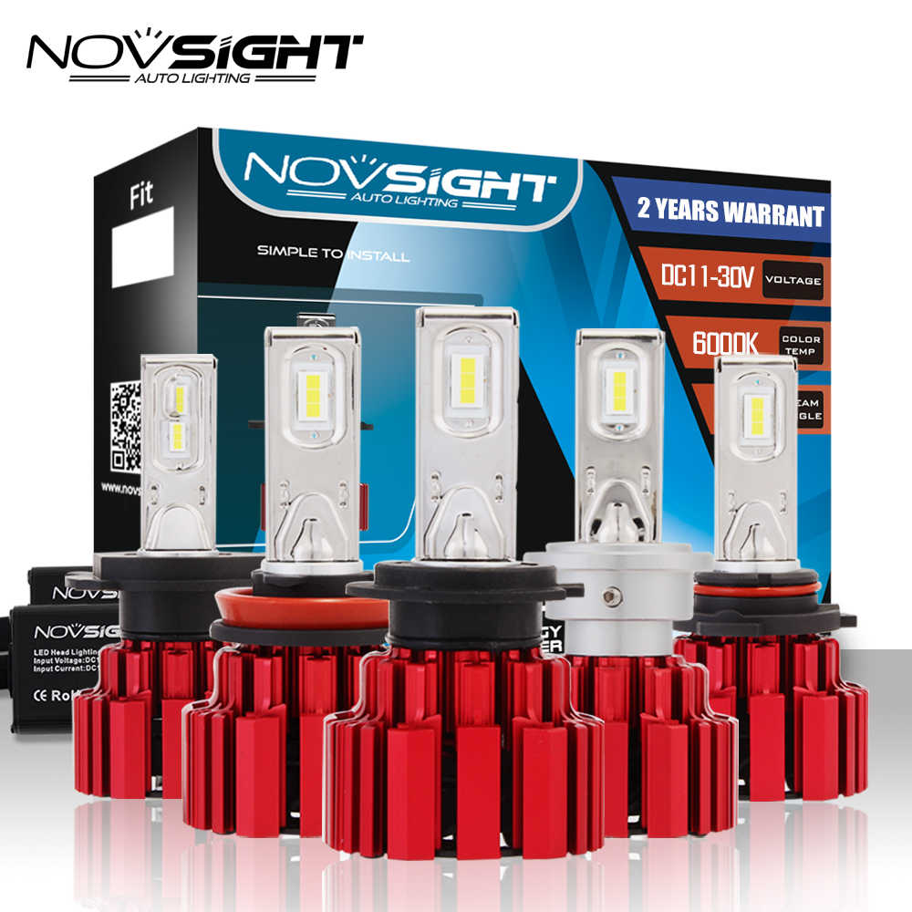 NOVSIGHT H4/9003/HB2 Hi/lo Beam D1 H7 H11 9005 9006 LED Car Headlights 13600LM 90W Led Fog Light Lamps Bulbs 6000K